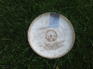 Close-up of Fred's Taped Up Frisbee